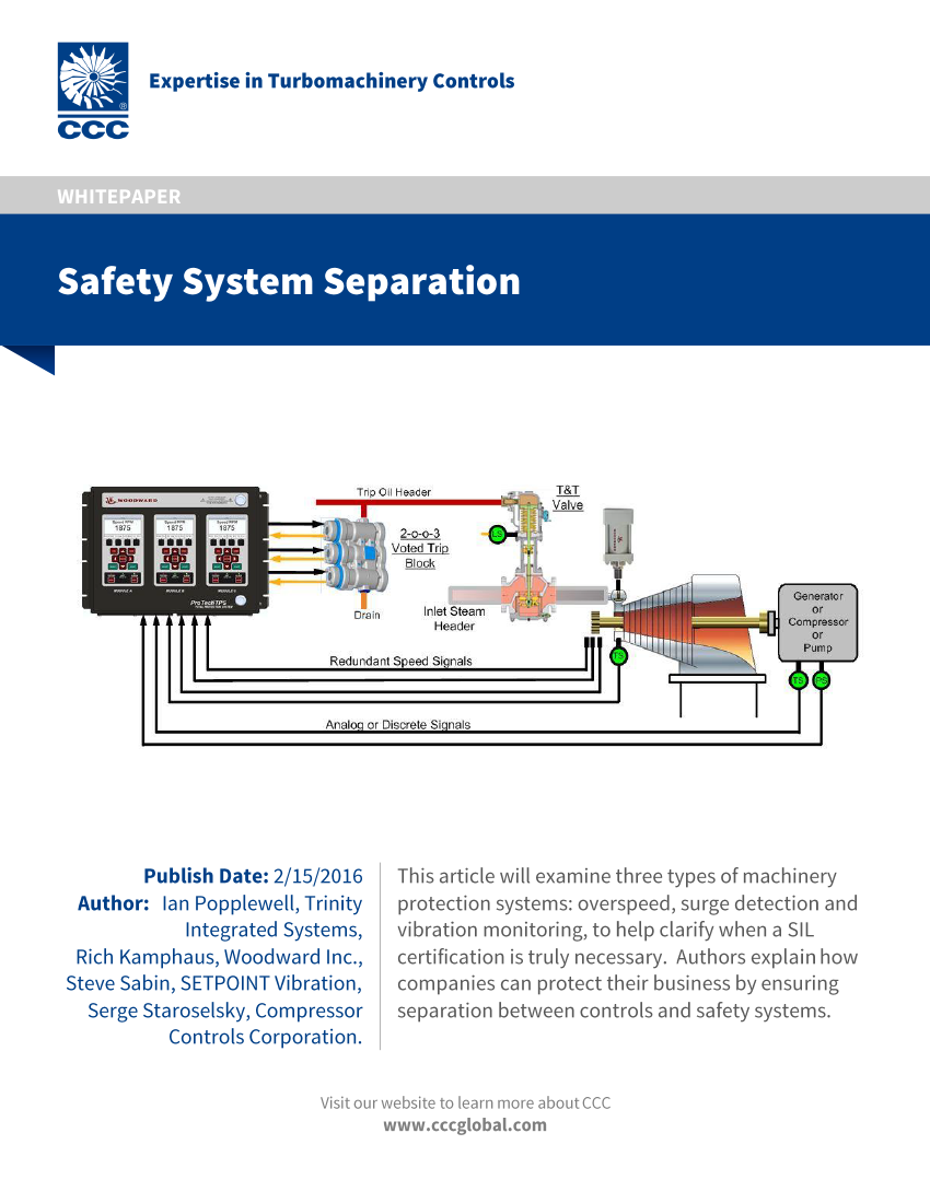 Safety System Separation | CCC (Compressor Controls Corporation)